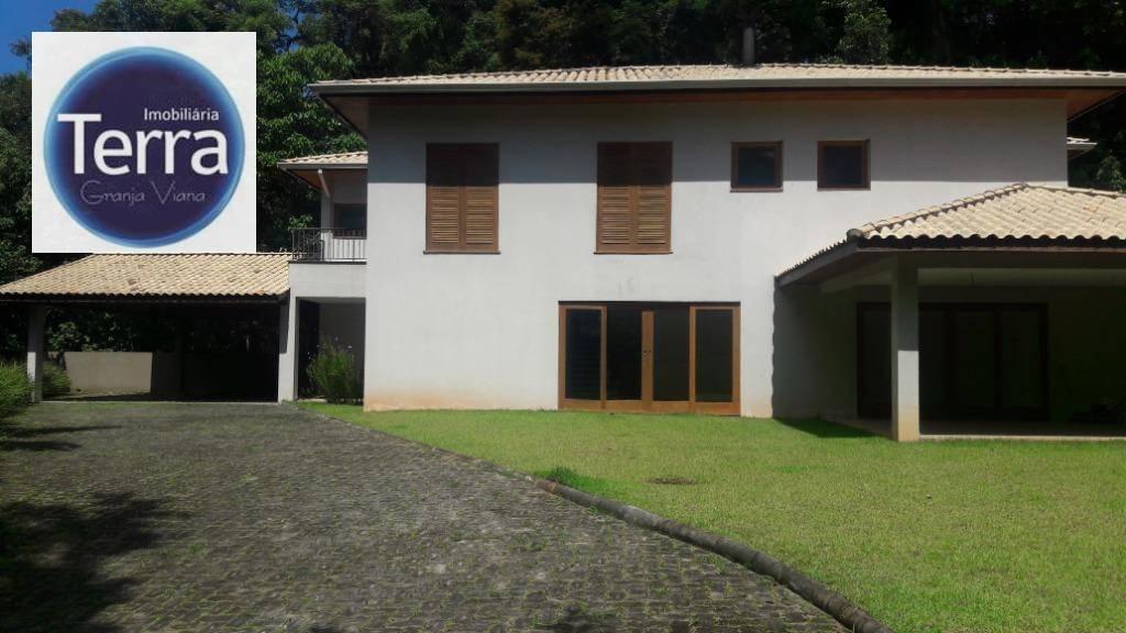 Casa com 4 dormitórios para alugar, 478 m² por R$ 8.000/mês - Pousada dos Bandeirantes - Granja Viana