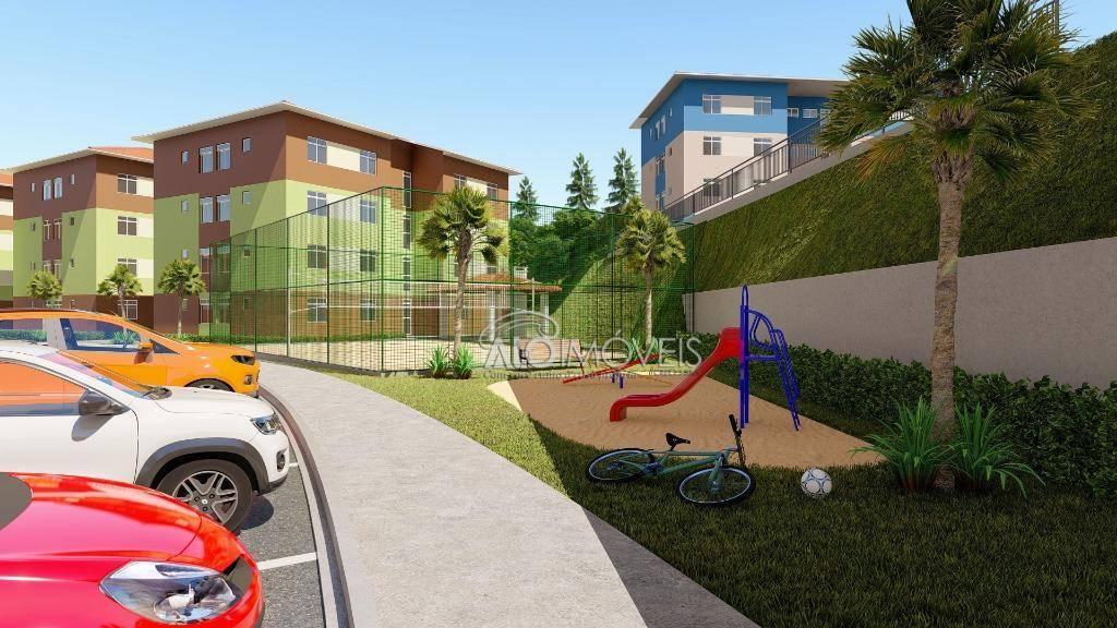 Unidades na Planta - Apartamento com 2 dormitórios à venda, 41 m² por R$ 125.500 - Tanguá - Almirante Tamandaré/PR