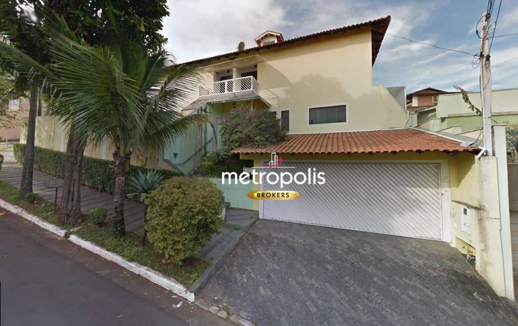 Sobrado com 4 dormitórios para alugar, 400 m² por R$ 4.500/mês - Jardim São Caetano - São Caetano do Sul/SP