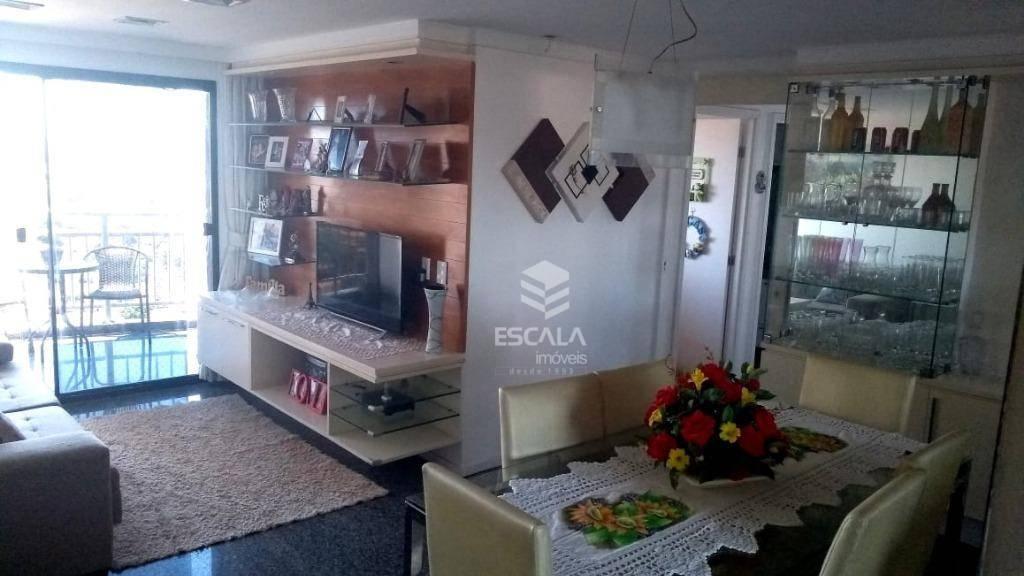 Apartamento com 3 quartos à venda, 94 m², andar alto, perto da praia, financia - Varjota - Fortaleza/CE