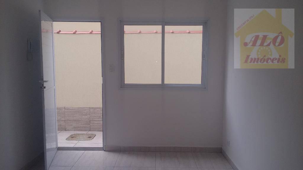 Sobrado com 2 dormitórios para alugar, 55 m² por R$ 1.200,00/mês - Glória - Praia Grande/SP