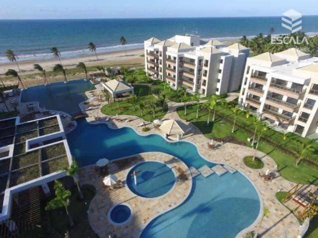 Apartamento com 3 quartos à venda, 95 m², 2 vagas, beira mar, área de lazer  - Cumbuco - Caucaia/CE