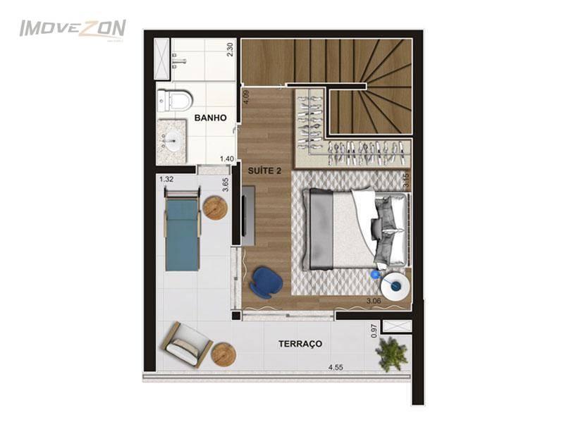 Planta Duplex Superior 92m²