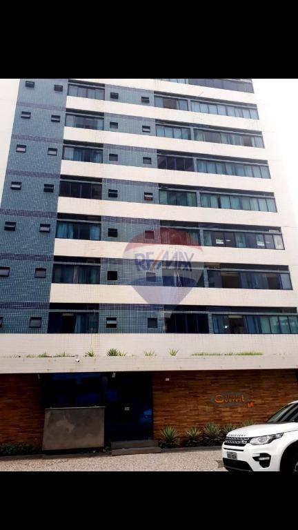Flat com 1 dormitório para alugar, 33 m² por R$ 1.800,00/mês - Pina - Recife/PE