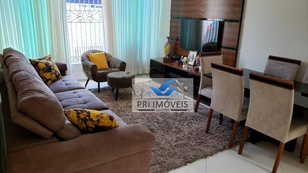 Sobrado à venda, 161 m² por R$ 950.000,00 - Marapé - Santos/SP