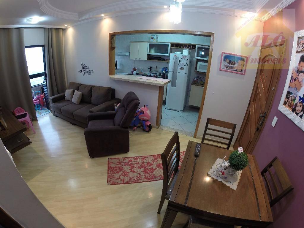 Apartamento com 1 dormitório à venda, 54 m² por R$ 185.000 - Canto do Forte - Praia Grande/SP