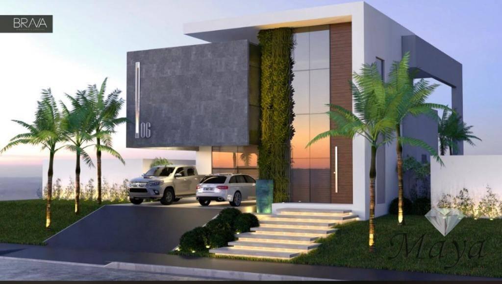 Sobrado 3 Suítes, 280 m² c/ lazer no Condomínio Mirante do Lago