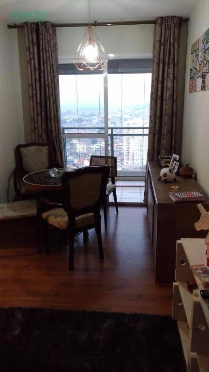 Apartamento residencial à venda, 2 dormitórios, 1 vaga. Picanco, Guarulhos.