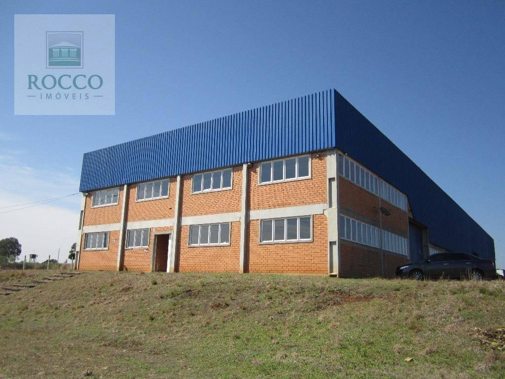 Barracão industrial para locação, Eucaliptos, Fazenda Rio Gr