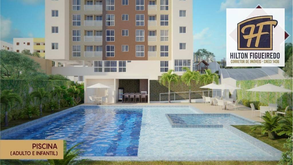 Apartamento com 2 dormitórios à venda, 54 m² por R$ 219.294 - Água Fria - João Pessoa/PB