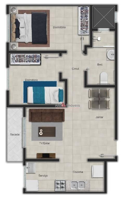 Residencial Francisco Dalpra, 2 quartos. 57,15 mt²