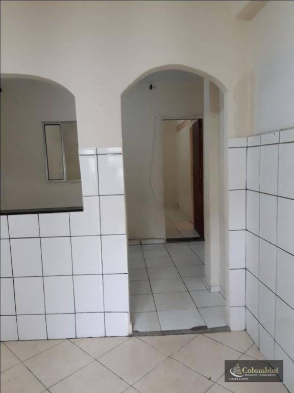 Casa com 2 dormitórios para alugar, 68 m² - Santa Maria - Santo André/SP