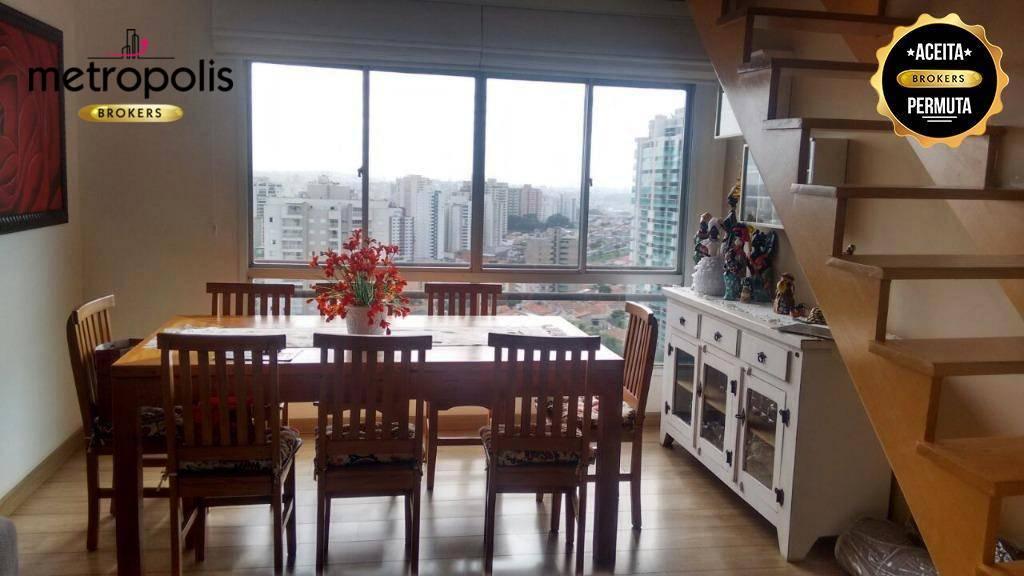 Cobertura à venda, 162 m² por R$ 845.000,00 - Santa Paula - São Caetano do Sul/SP