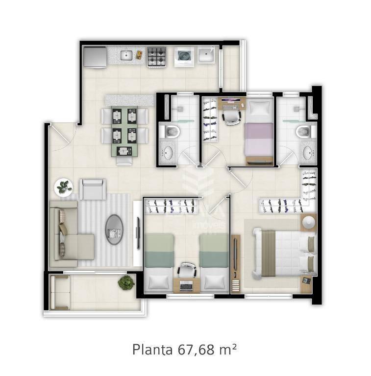 Apartamento à Venda - Jóquei Clube