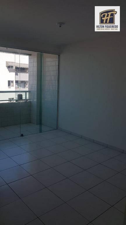 Apartamento com 3 dormitórios para alugar, 75 m² por R$ 1.600/mês - Bessa - João Pessoa/PB