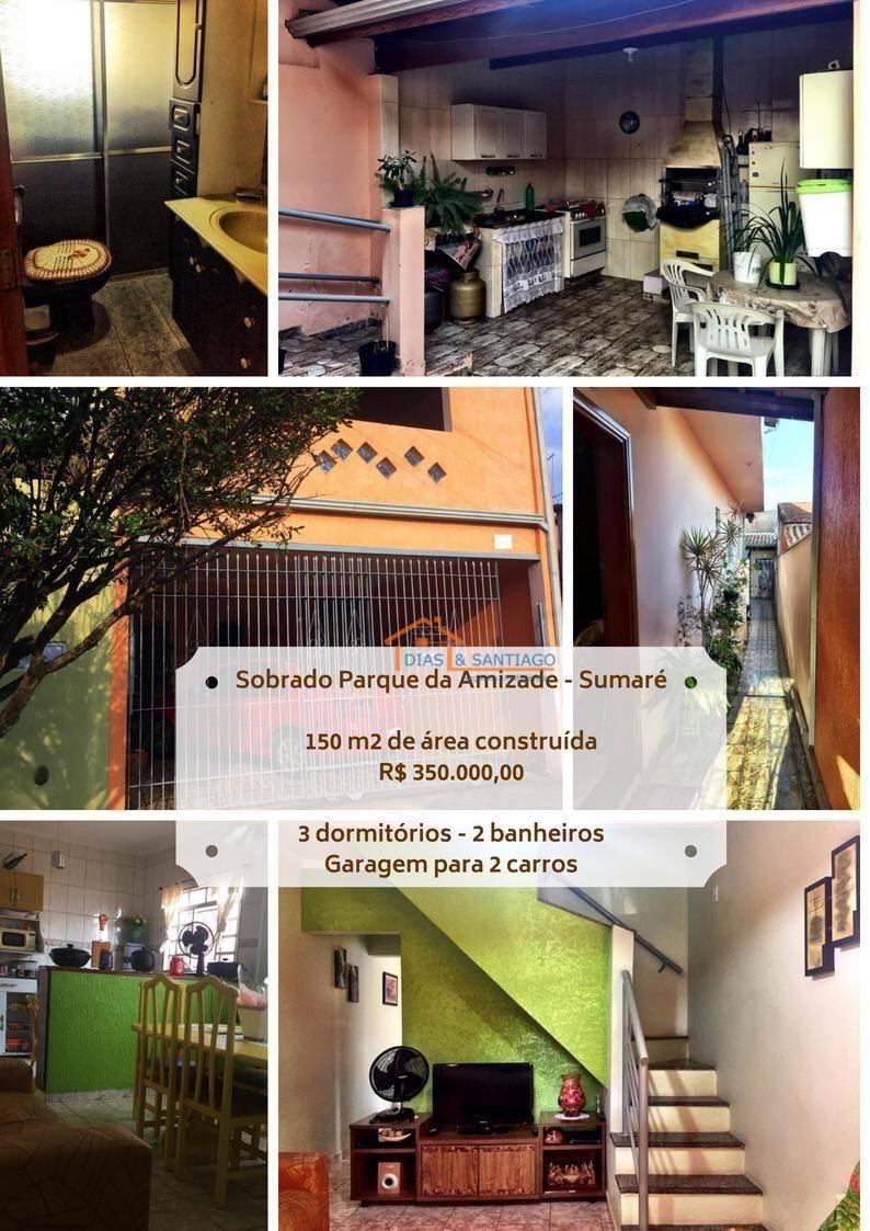 Sobrado Residencial à venda, Parque da Amizade (Nova Veneza), Sumaré - .