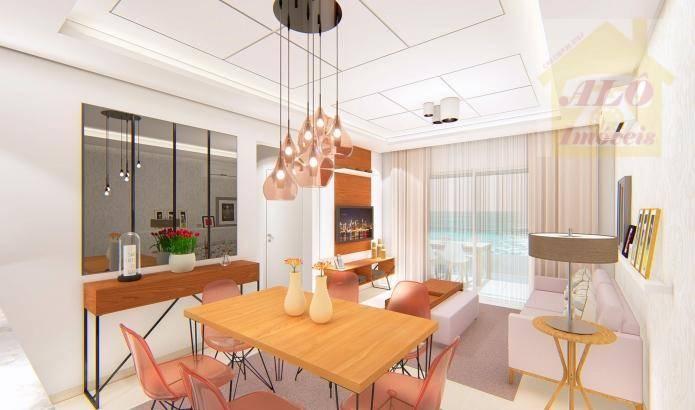 Apartamento à venda, 73 m² por R$ 380.016,00 - Vila Atlântica - Mongaguá/SP