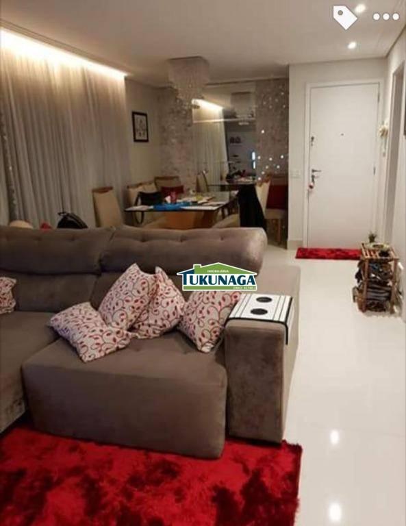 Apartamento com 2 dormitórios à venda, 86 m² por R$ 680.000 - Vila Augusta - Guarulhos/SP