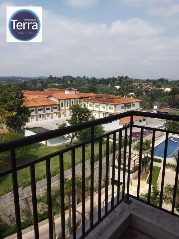 Apartamento com 1 dormitório para alugar, 38 m² por R$ 2.500/mês - Address Granja Viana - Granja Viana