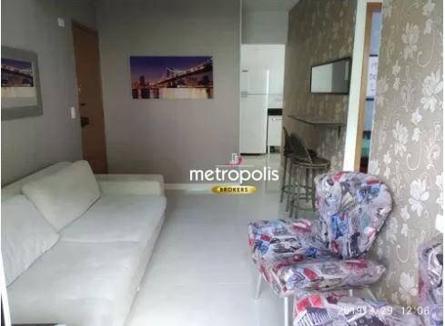 Apartamento com 2 dormitórios à venda, 50 m² por R$ 260.000 - Vila Voturua - São Vicente/SP
