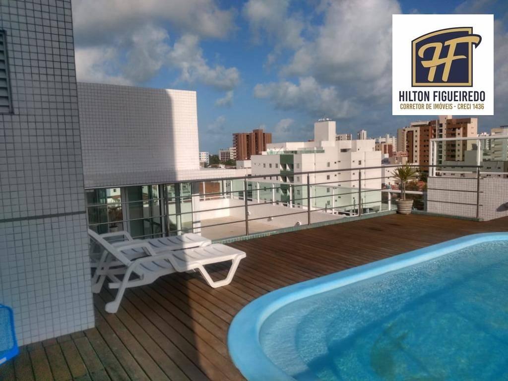 Apartamento com 3 dormitórios à venda, 106 m² por R$ 370.000,00 - Bessa - João Pessoa/PB