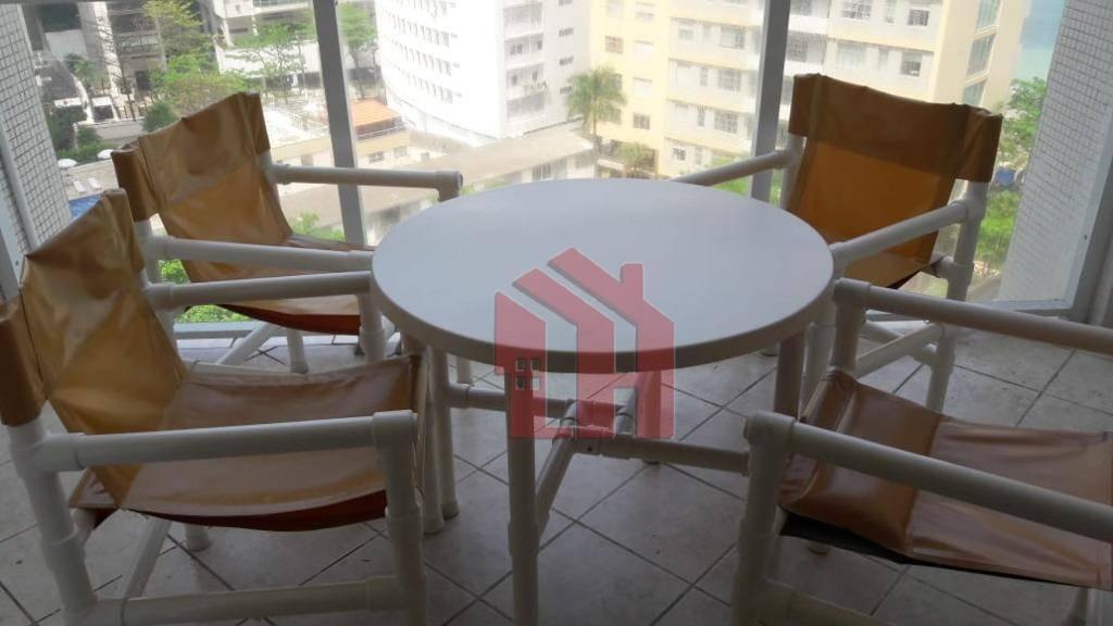 Apartamento de 120m2, 2 dormitórios, 1 vaga, R$ 3.250,00, Pitangueiras, Guarujá