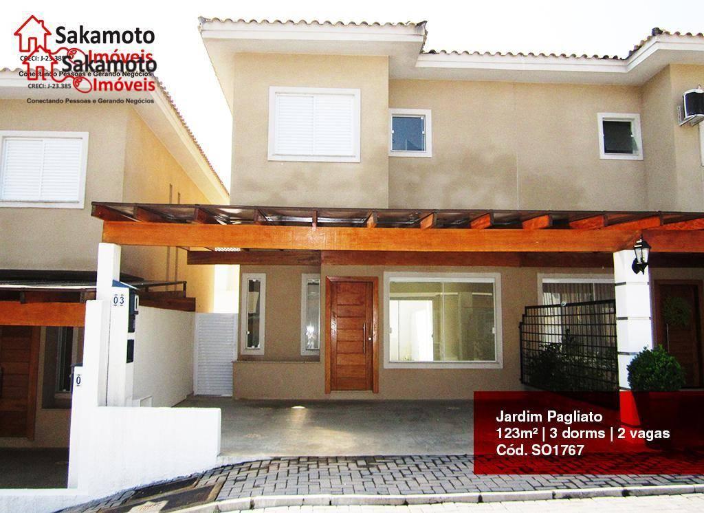 Sobrado residencial à venda, Jardim Pagliato, Sorocaba.