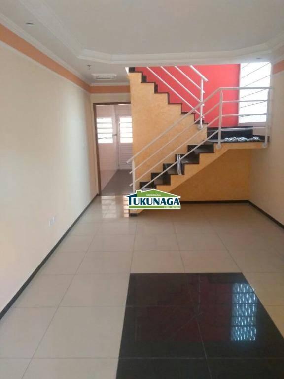 Sobrado com 3 dormitórios à venda, 122 m² por R$ 510.000 - Jardim Santa Clara - Guarulhos/SP
