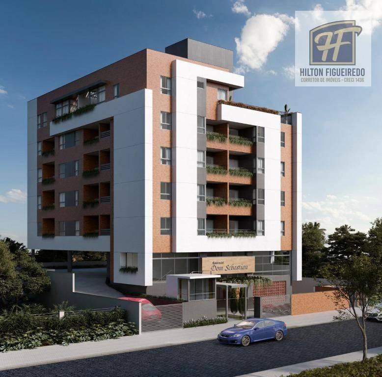 Apartamento com 2 dormitórios à venda, 59 m² por R$ 257.000 - Bessa - João Pessoa/PB