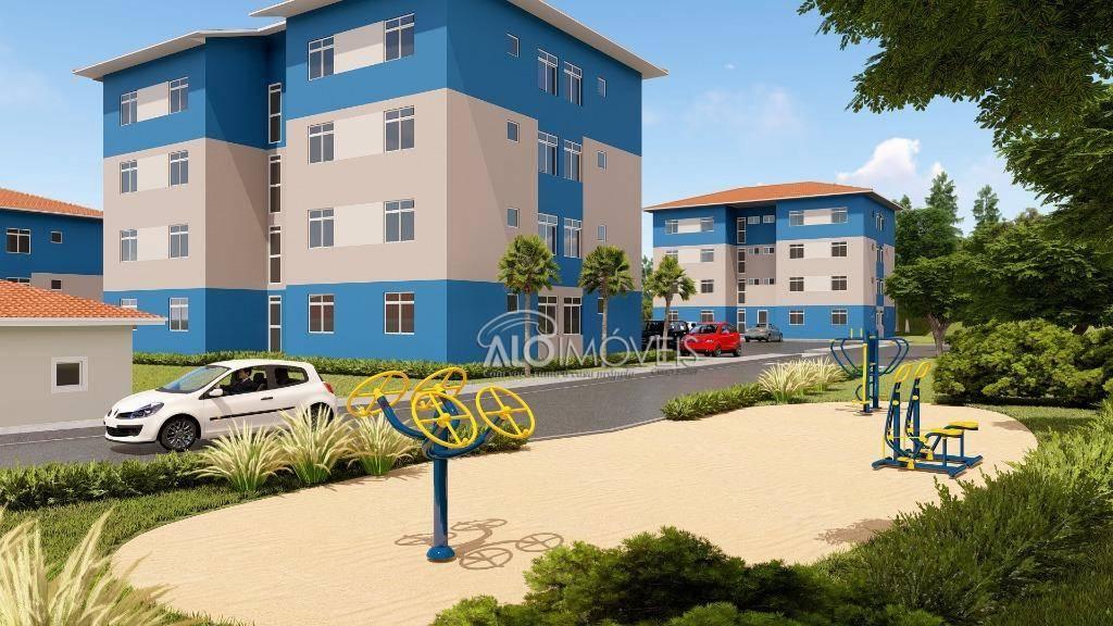 Apartamento na planta com 2 dormitórios à venda, 41 m² por R$ 127.449 - Tanguá - Almirante Tamandaré/PR