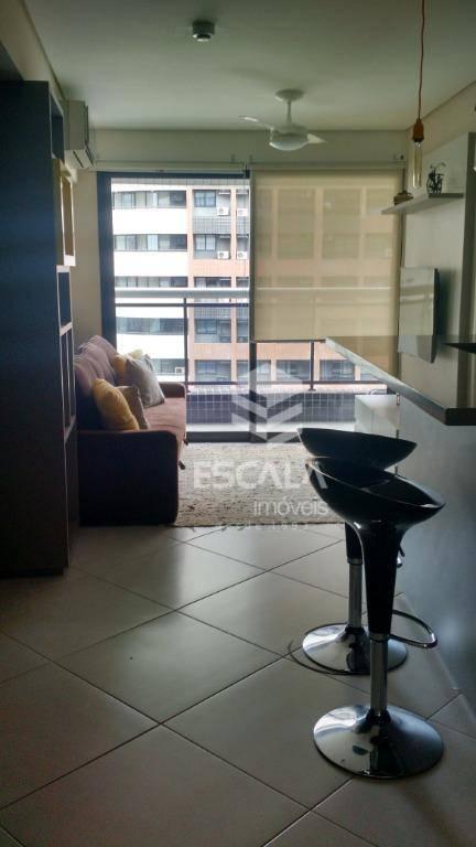 Apartamento para alugar, 40 m² por R$ 3.000,00/mês - Meireles - Fortaleza/CE