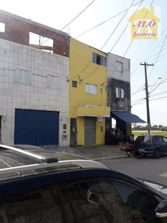 Salão para alugar, 65 m² por R$ 1.000/mês - Balneário Esmeralda - Praia Grande/SP