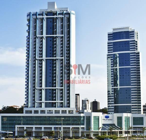 Ed. Mundo Plaza, loft nascente para alugar, mobiliado, com banheira na varanda - Caminho das Árvores - Salvador/BA