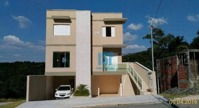 Sobrado com 3 dormitórios à venda, 164 m² por R$ 520.000 - Chácara Roselândia - Cotia/SP - SO5493.