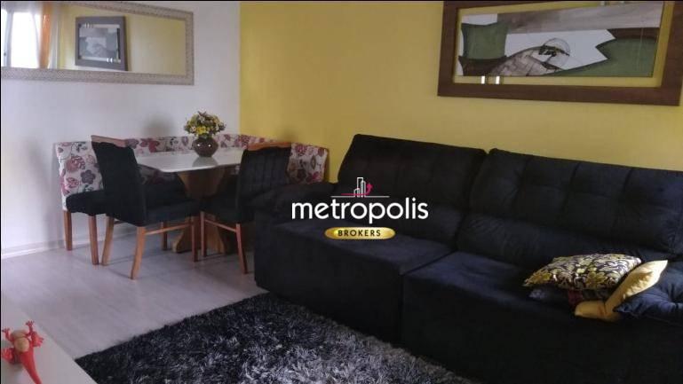 Apartamento com 2 dormitórios à venda, 50 m² por R$ 375.000 - Jardim Bela Vista - Santo André/SP