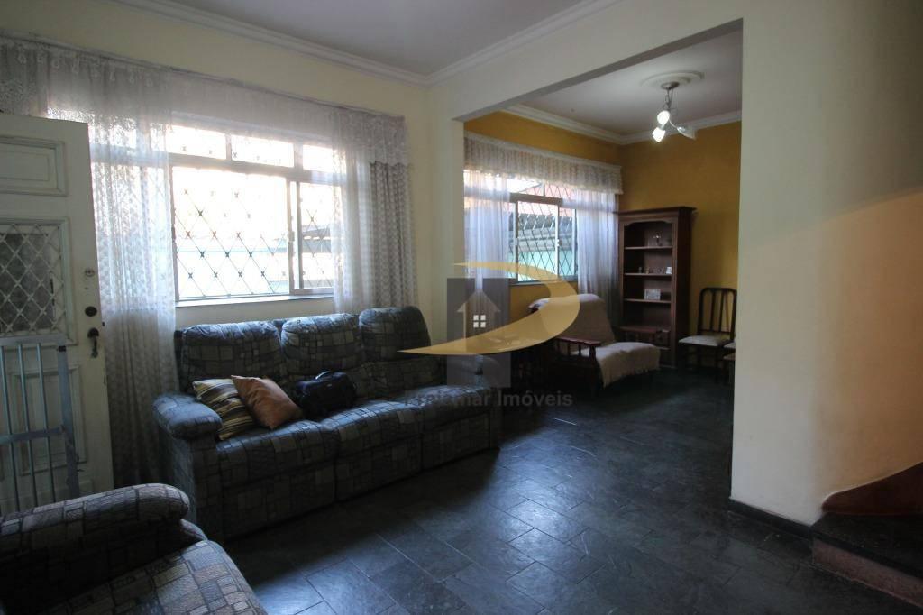 Sobrado com 3 dormitórios à venda, 125 m² por R$ 550.000 - Macuco - Santos/SP