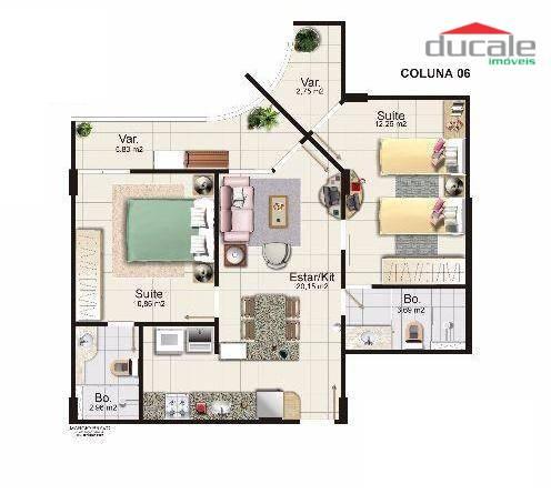 Apartamento residencial para locação, Jardim da Penha, Vitór