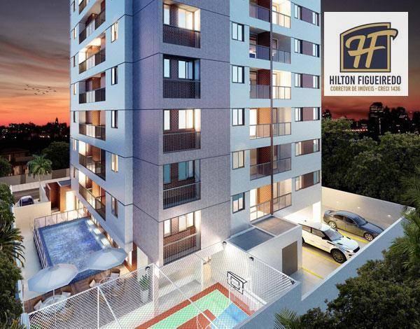 Apartamento com 2 e 3 dormitórios à venda, 61 m² por R$ 333.222 - Bessa - João Pessoa/PB