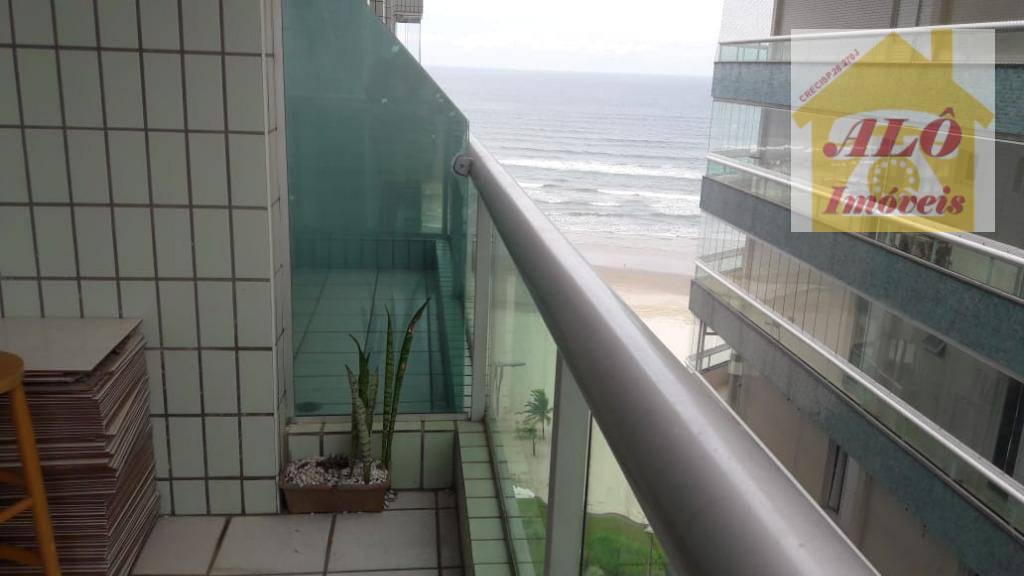Apartamento com 2 dormitórios para alugar, 95 m² por R$ 1.680/mês - Vila Caiçara - Praia Grande/SP