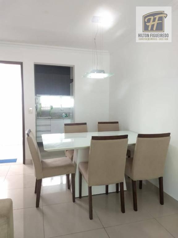 Apartamento MOBILIADO com 2 dormitórios para alugar, 96 m² por R$ 1.600/mês - Bessa - João Pessoa/PB