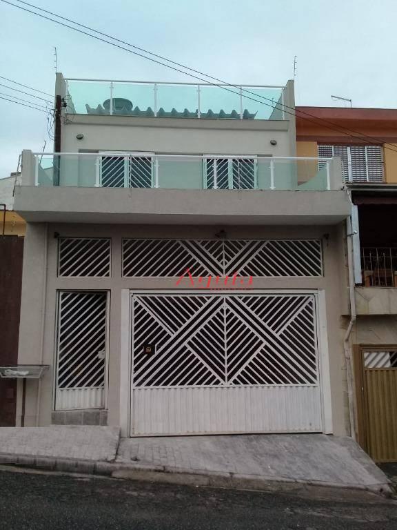 Sobrado com 4 dormitórios à venda, 230 m² por R$ 590.000 - Vila Sacadura Cabral - Santo André/SP