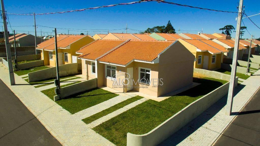 Casa com 2 dormitórios à venda, 42 m² por R$ 123.000  Avenida Mato Grosso, 2316 - Estados - Fazenda Rio Grande/PR