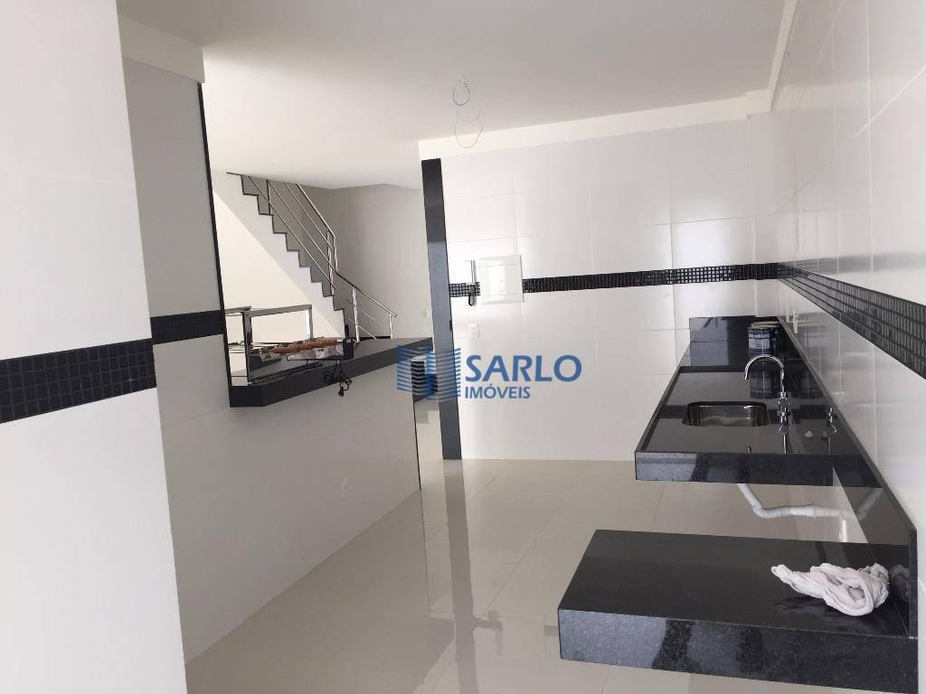 excelente imóvel residencial novo, duplex, com 200 m² de área construída, 02 salas, cozinha, 04 quartos...