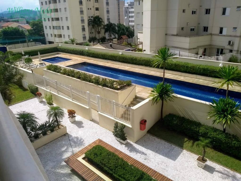 Apartamento com 3 dormitórios para alugar, 115 m² por R$ 1.800/mês - Bosque Maia - Guarulhos/SP