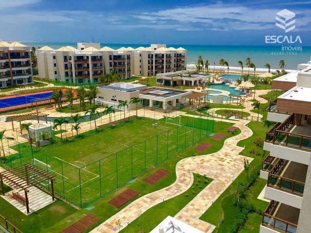 Apartamento com 3 quartos à venda, 115 m², 2 vagas, beira mar, área de lazer - Cumbuco - Caucaia/CE