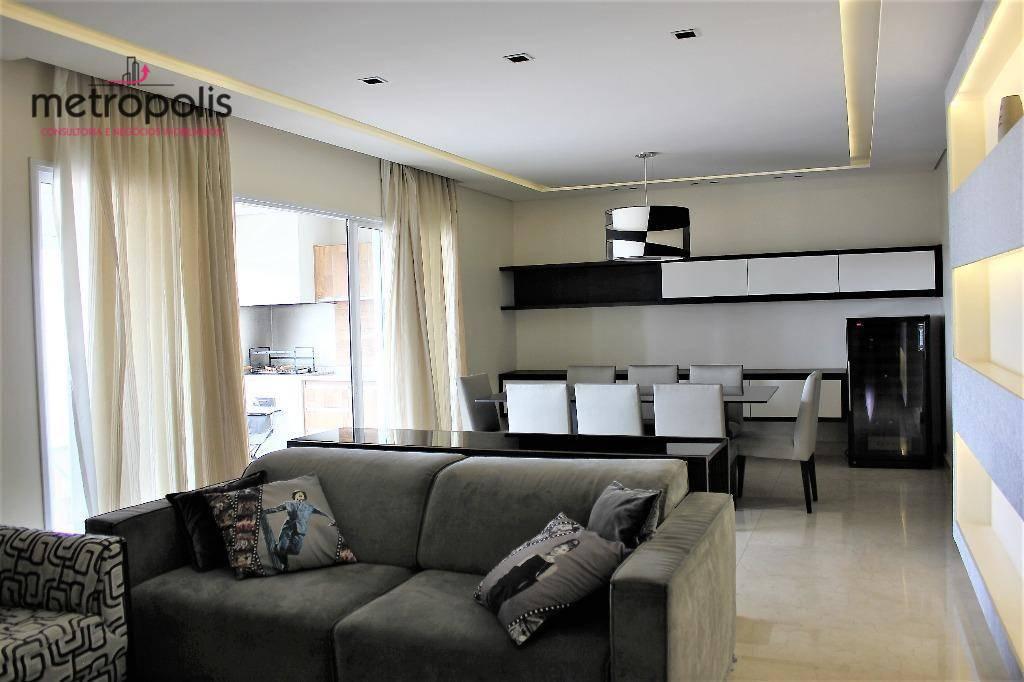 Apartamento com 3 dormitórios à venda e locação, 146 m² por R$ 1.200.000 - Santa Paula - São Caetano do Sul/SP