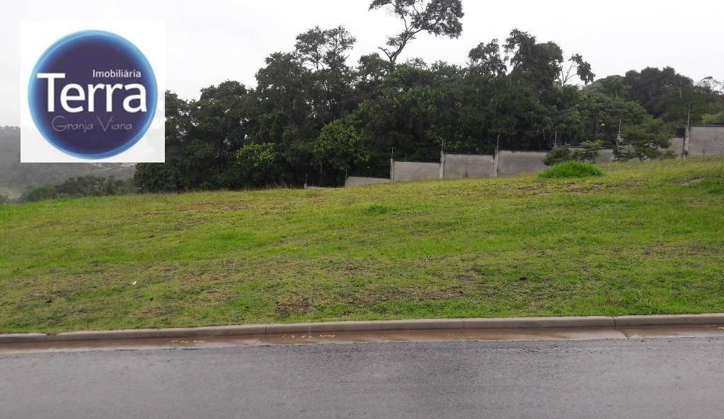 Terreno à venda, 693 m² por R$ 650.000 - Alphaville Granja Viana - Granja Viana
