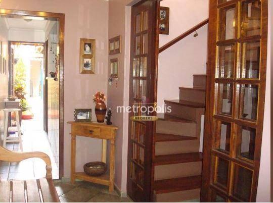 Sobrado com 3 dormitórios à venda, 169 m² por R$ 670.000 - Mauá - São Caetano do Sul/SP