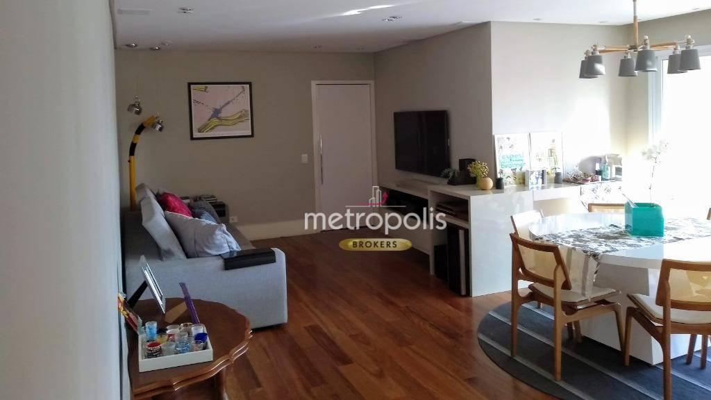 Apartamento com 3 dormitórios para alugar, 122 m² por R$ 3.800/mês - Jardim - Santo André/SP