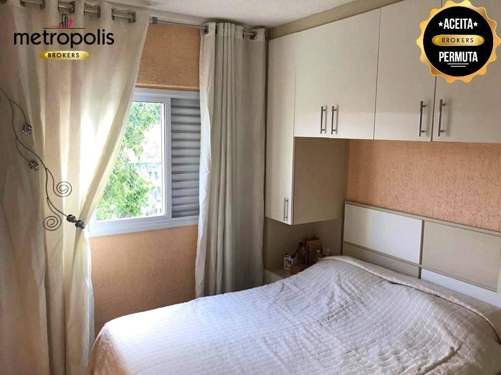 Apartamento com 2 dormitórios à venda, 52 m² por R$ 250.000 - Vila Príncipe de Gales - Santo André/SP